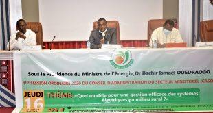 1re session ordinaire 2020 du Conseil d'Administration du Secteur Ministériel de l'Energie : les acteurs reflechissent sur un modèle d'électrification rurale